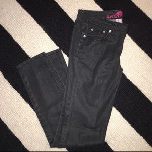 Black Coated Skinny Jeans by Almost Famous